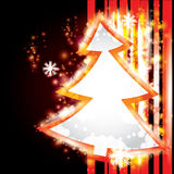Abstract Christmas background with Christmas tree Stock Image