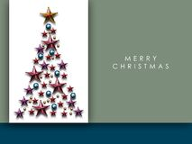 Abstract Christmas Background. Christmas Tree Concept for Cerebration with Copy Space Stock Photos