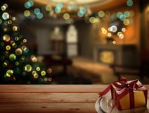 Abstract Christmas Background. Christmas Tree Concept for Cerebration with Copy Space Stock Photography
