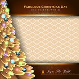 Abstract Christmas Background. Christmas Tree Concept. Vector and Illustration, EPS 10 Royalty Free Stock Photography