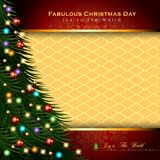 Abstract Christmas Background. Christmas Tree Concept. Vector and Illustration, EPS 10 Royalty Free Stock Photo