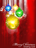 Abstract christmas background with christmasball. Vector illustration Stock Images