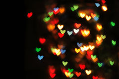Abstract christmas background (color heart lights) Royalty Free Stock Photography