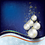 Abstract Christmas background with decorations Royalty Free Stock Photos