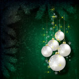 Abstract Christmas background with decorations Royalty Free Stock Image