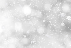 Abstract Christmas background. With falling snow flakes Stock Photo