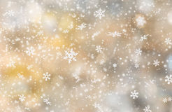 Abstract Christmas background. With falling snow flakes Stock Photography