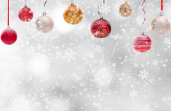 Abstract Christmas background. With falling snow flakes Royalty Free Stock Photos