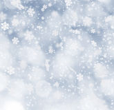 Abstract Christmas background. With falling snow flakes Royalty Free Stock Image