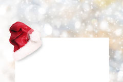 Abstract Christmas background. With falling snow flakes Royalty Free Stock Photo