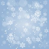 Abstract Christmas background with falling snowflakes. Vector illustration for Holiday Collection. Abstract Christmas background with falling snowflakes. Vector Royalty Free Stock Image