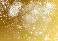 Abstract Christmas background with fireworks Royalty Free Stock Images
