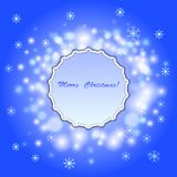 Abstract  christmas background with frame Royalty Free Stock Images