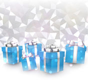Abstract Christmas background with gifts. Stock Photos