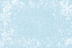 Abstract christmas background - glitter and snowflakes stock images