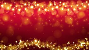 Abstract Christmas background with glowing stars. Are dropping the magic twinkle and bottom including stardust flowing as in a wavy line vector illustration