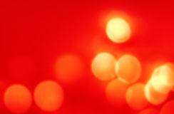 Abstract Christmas background with gold bokeh lights  and place Stock Photos
