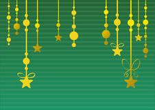 Abstract christmas background (green) Royalty Free Stock Photography