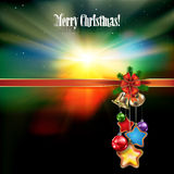 Abstract Christmas background with handbells. Abstract celebration background with handbells and Christmas decorations Royalty Free Stock Photos
