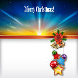 Abstract Christmas background with handbells and d Royalty Free Stock Image