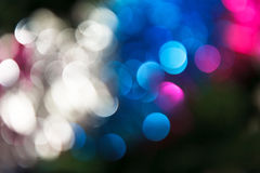 Abstract christmas background. Holiday colored lights Stock Photography
