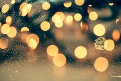 Abstract Christmas background with holiday lights Royalty Free Stock Images
