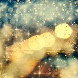 abstract Christmas background with holiday lights Stock Photography