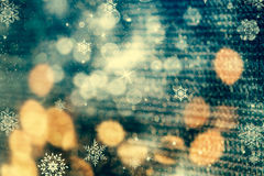 abstract Christmas background with holiday lights Stock Image