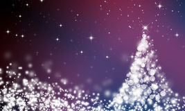 Abstract Christmas background of holiday lights Royalty Free Stock Photo