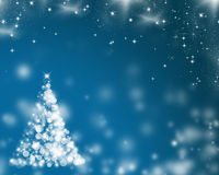 Abstract Christmas background of holiday lights Stock Images