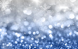 Abstract Christmas background of holiday lights Stock Photography
