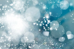 Abstract Christmas background of holiday lights Royalty Free Stock Image