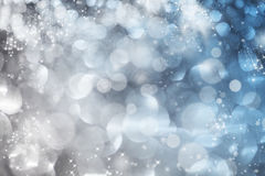 Abstract Christmas background of holiday lights Royalty Free Stock Photography