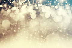 Abstract Christmas background of holiday lights Stock Photo