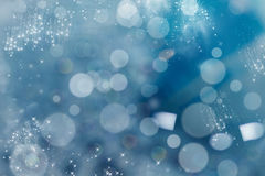 Abstract Christmas background of holiday lights Stock Photos