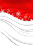 Abstract Christmas background. Illustration of abstract Christmas background in red and white colours with snowflakes Stock Photos