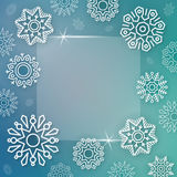 Abstract Christmas background with linear snowflakes Stock Photos