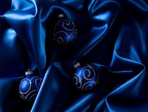 Abstract christmas background on luxury cloth Stock Images