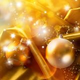 Abstract christmas background on luxury cloth Royalty Free Stock Image