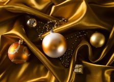 Abstract christmas background on luxury cloth Royalty Free Stock Photo