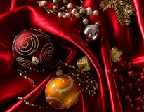 Abstract christmas background on luxury cloth Stock Photo
