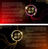 Abstract chinese new year. The meaning are Lucky and Happy. Royalty Free Stock Photos