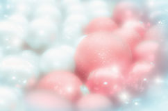 Abstract christmas background in pale, blurred Stock Photography