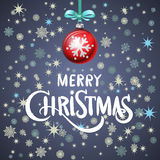 Abstract Christmas background. red ball. Vector eps 10. Art Stock Photos