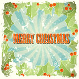 Abstract christmas background in retro style Stock Photo