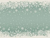 Abstract Christmas background with snowflake borders. Abstract Christmas background with white snowflake borders and copy space in the center. Vector vector illustration