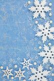 Abstract Christmas Background with Snowflake Decorations