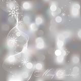 Abstract Christmas background with snowflakes Royalty Free Stock Images