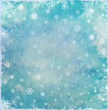 Abstract Christmas background with snowflakes Royalty Free Stock Photo