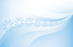 Abstract Christmas background with snowflakes Royalty Free Stock Photography